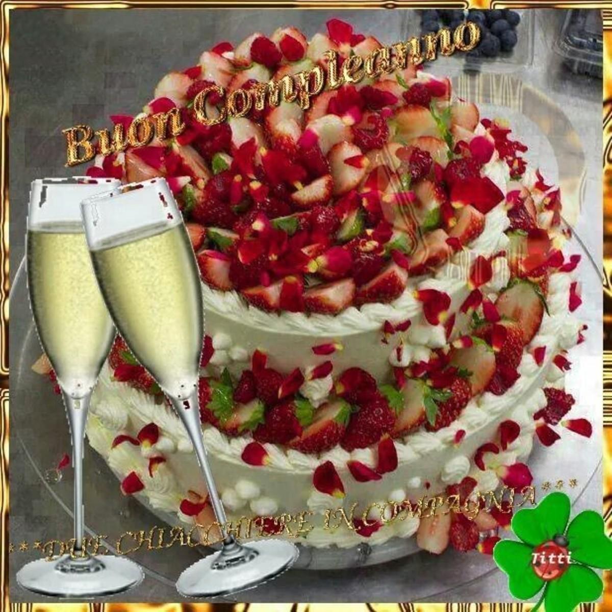 Auguri con bella torta