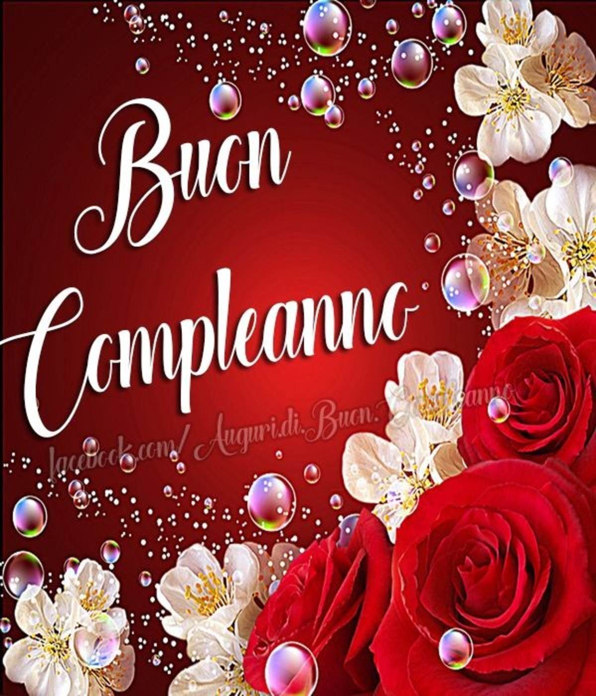Estremamente Buon compleanno con le rose - BuongiornoATe.it AX38