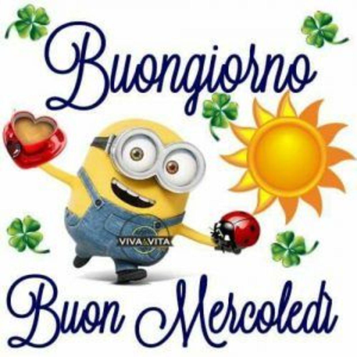 Buon Mercoledì Con Minions Buongiornoate It