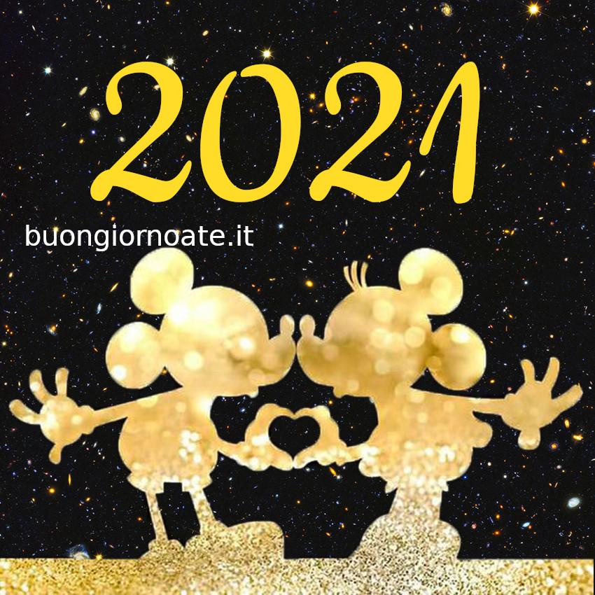 Buon 2021 immagini di auguri Disney