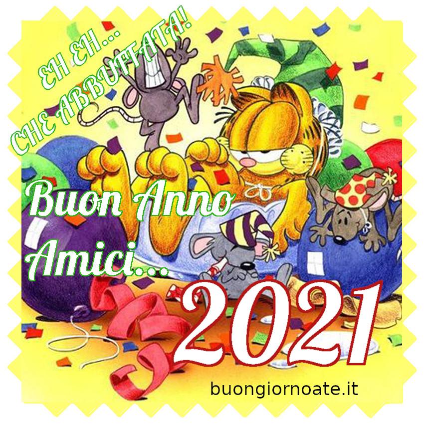 Felice Anno Nuovo 2021 dal gatto Garfield