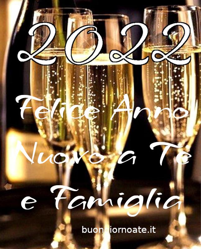 2022 Felice Anno Nuovo a Te e Famiglia