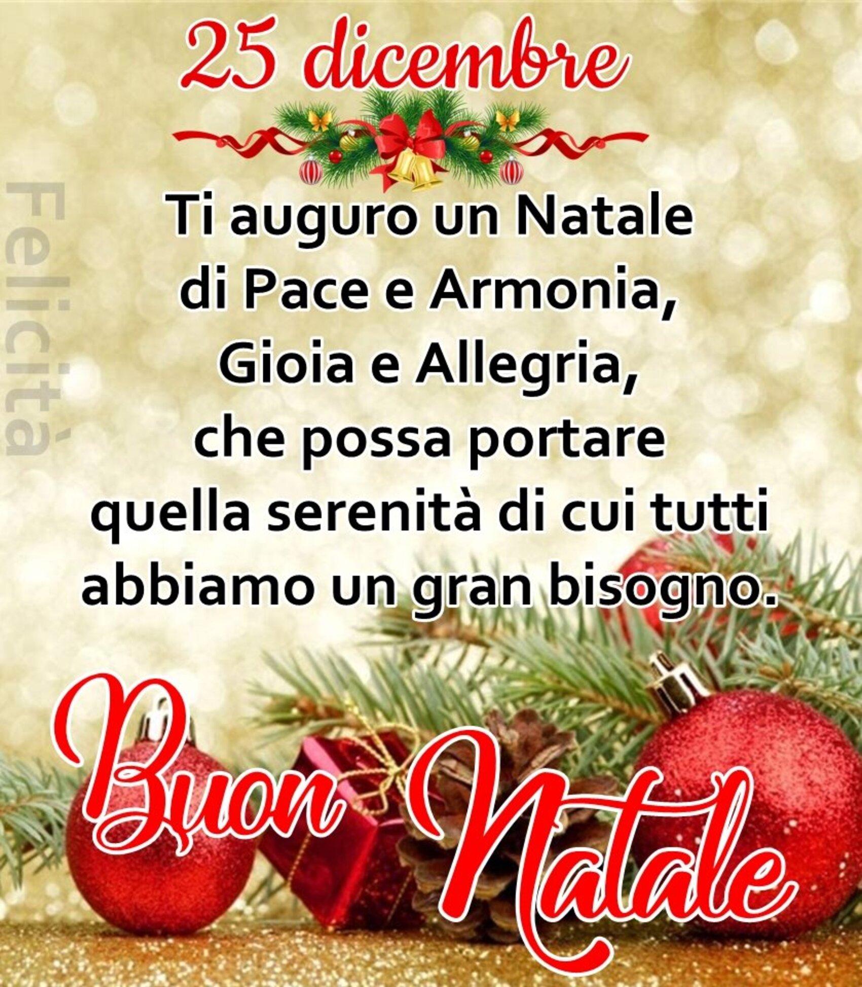 25 Dicembre Buon Natale