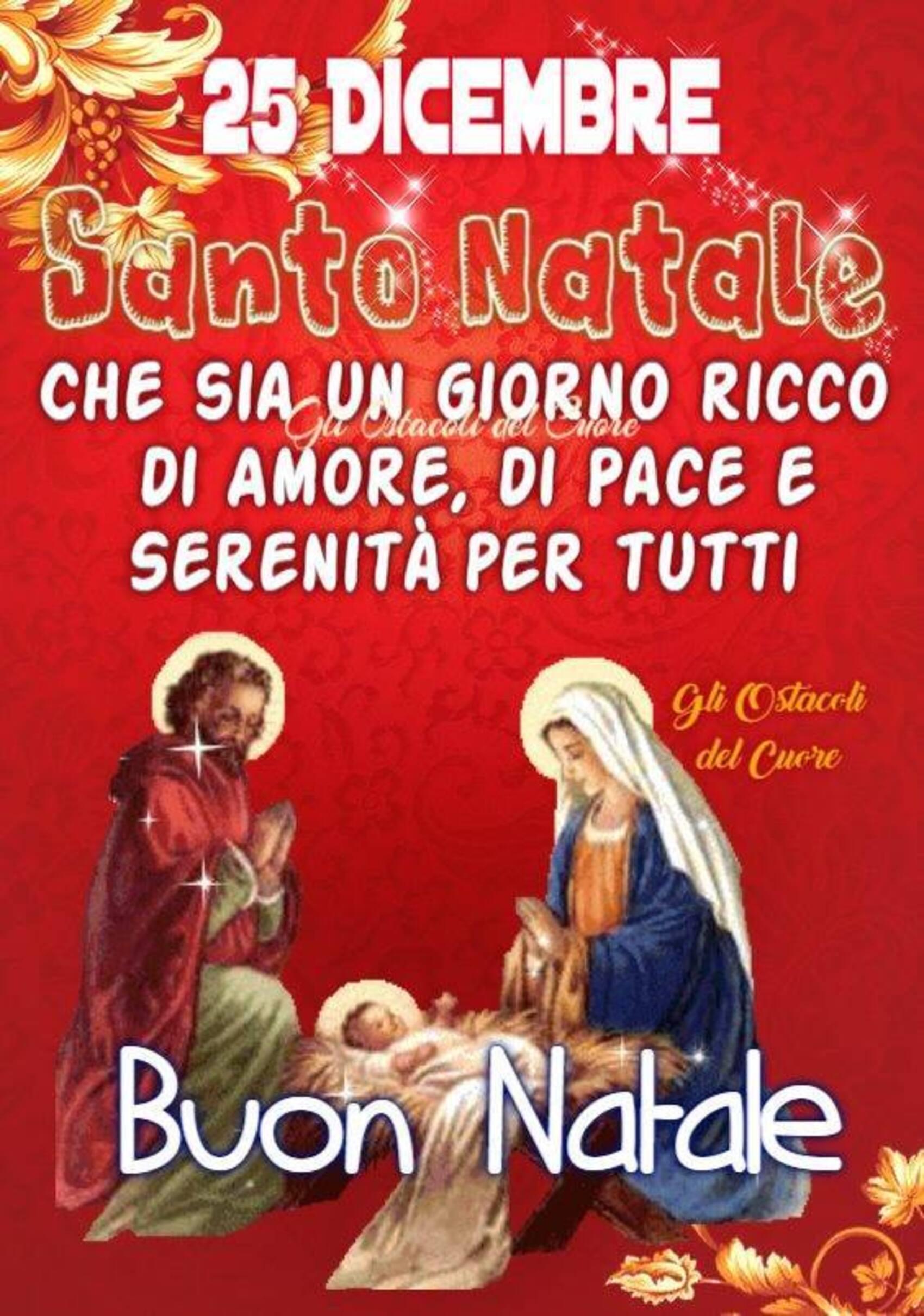 25 dicembre Santo Natale